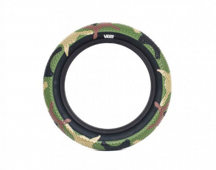 "Cult 14"" Vans Tyre - Camo With Black Sidewall 2.20"""